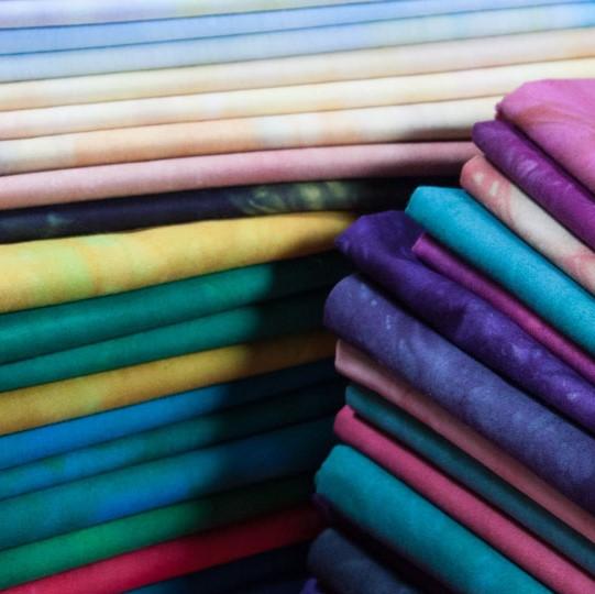 Janice's hand-dyed fabrics