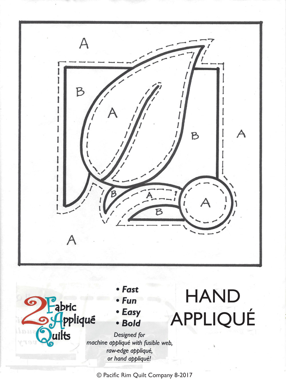 2 Fabric Applique Quilt Patterns by hand, instructions