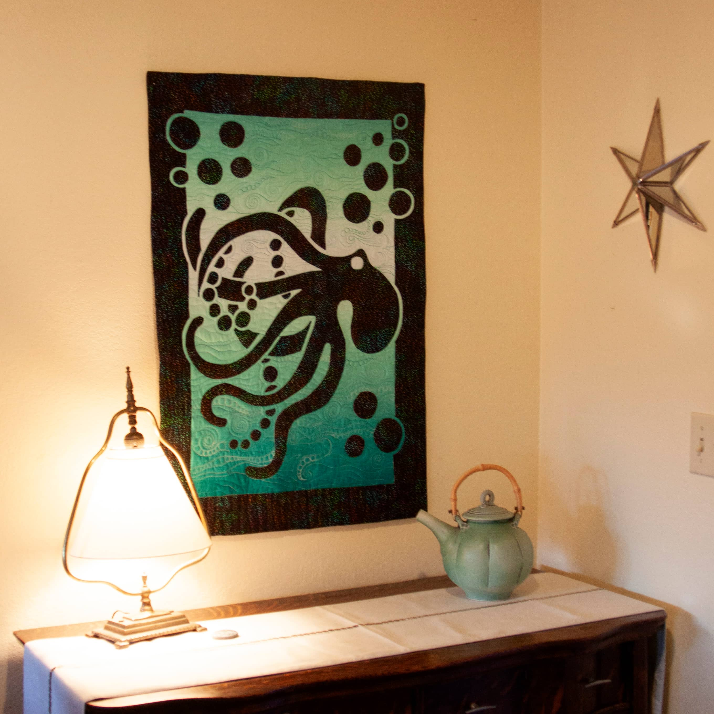 Octopus 2 Fabric Applique Quilt Pattern