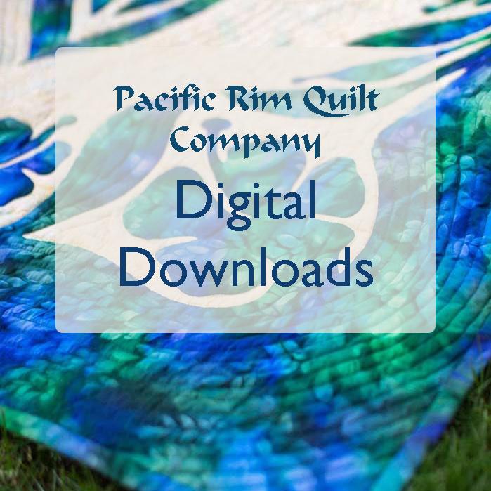 Delicate Beauty Hawaiian Wall Quilt Pattern closeup