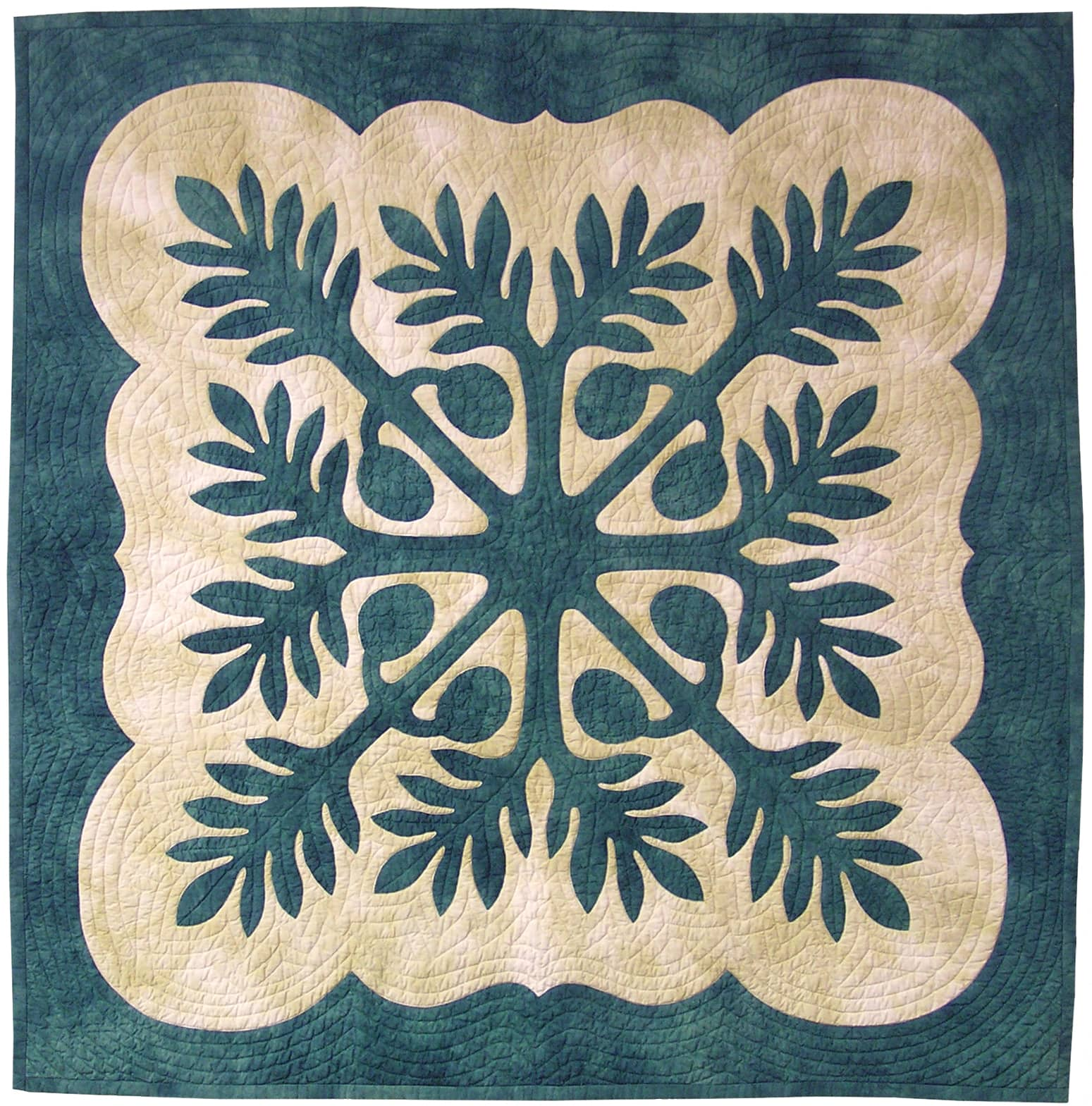 Tradition says your first Hawaiian quilt should be a breadfruit design.