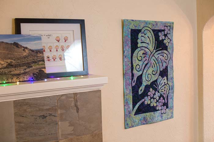 Butterflies 2 Fabric Applique Quilt Pattern