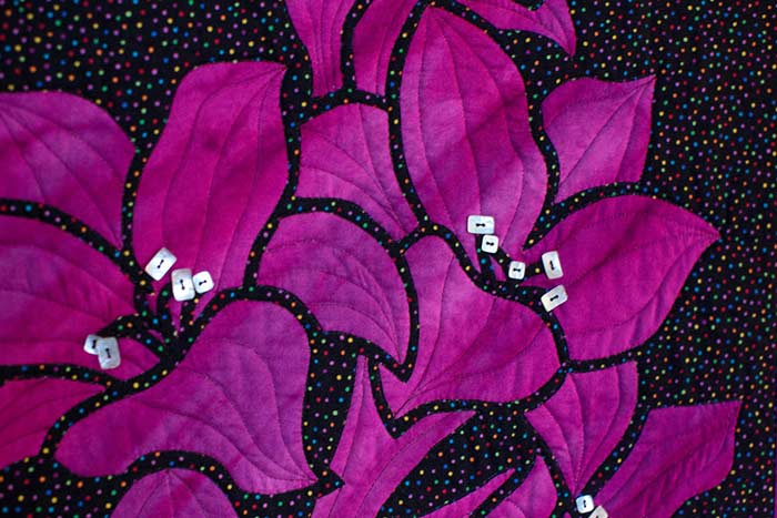 Spring Lilies 2 Fabric Applique Quilt Pattern