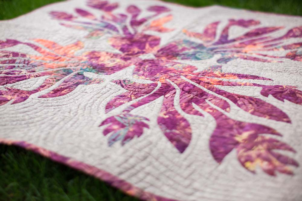 Flowers that Never Fade Hawaiian Wall Quilt