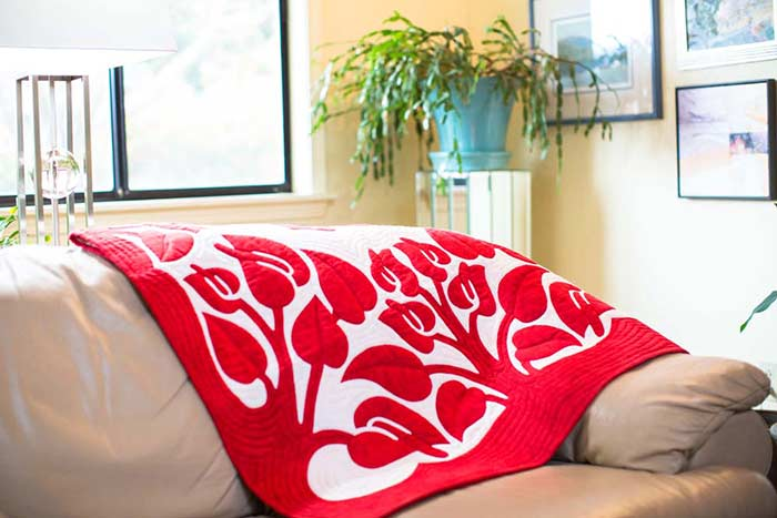Anthurium Hawaiian Wall Quilt Pattern