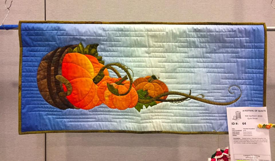 Pick Me Pumpkins Applique Border and Runner Pattern