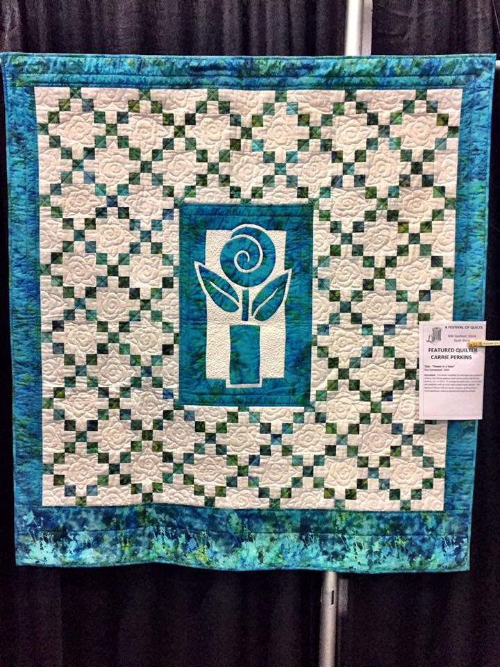 Nancy Lee Chong 2 Fabric Applique Quilt Class
