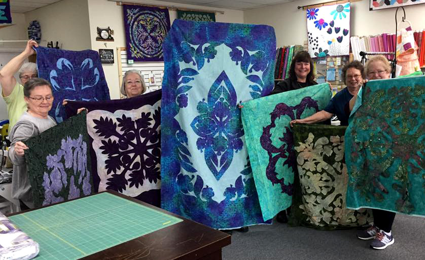 Hawaiian Quilting class at Bolts to Block Quilt Shop