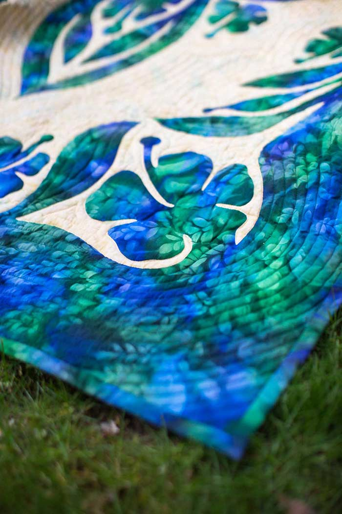 Delicate Beauty Hawaiian Wall Quilt