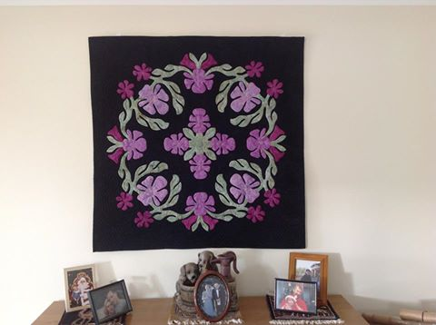 Orchid Oasis Hawaiian Wall Quilt Pattern