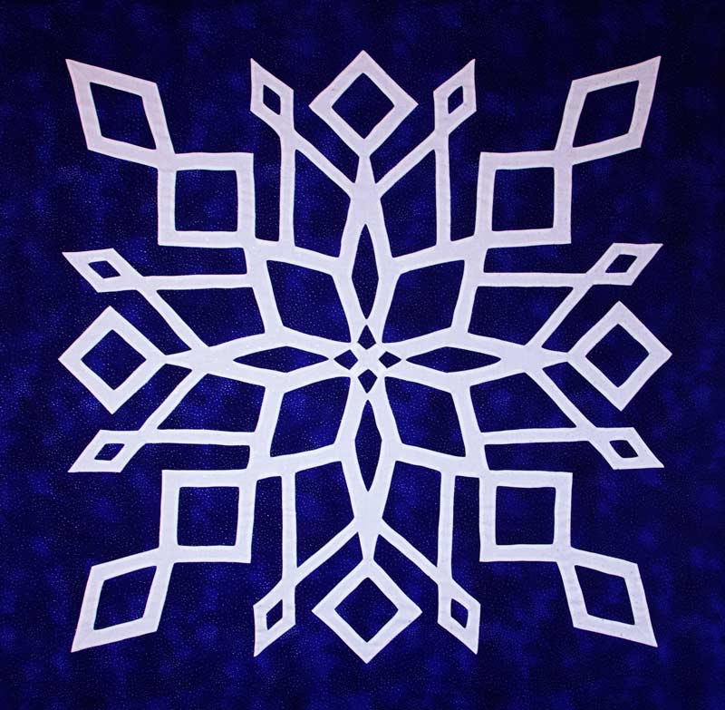 White as Snow Hawaiian Wall Quilt
