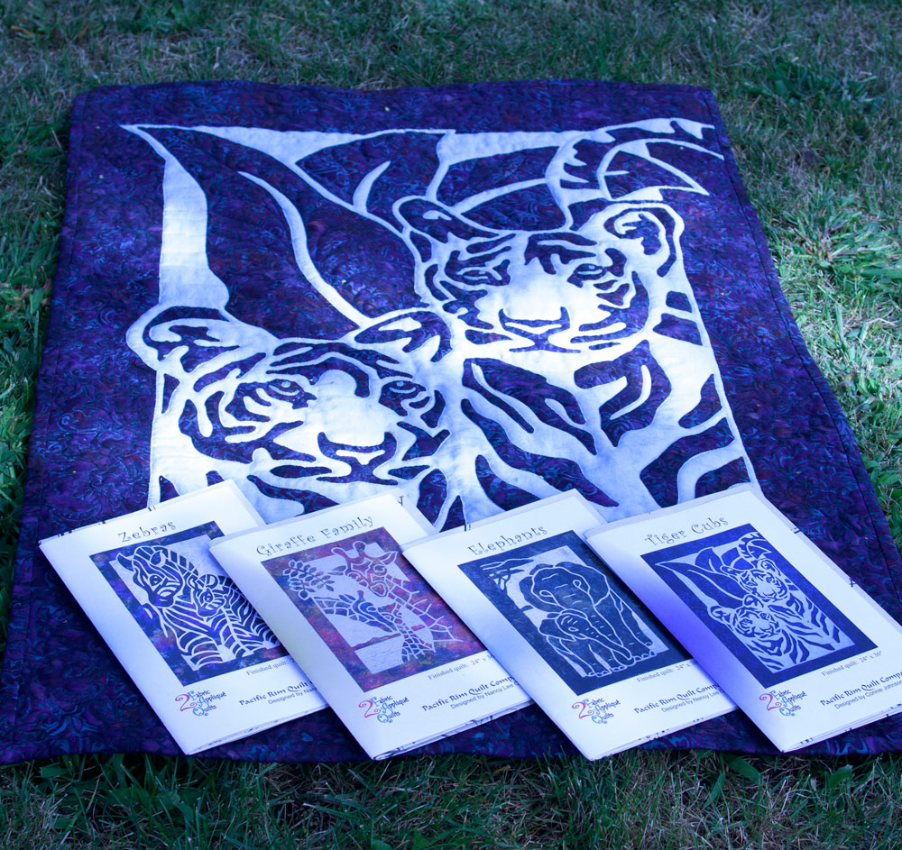 Tiger Cubs 2 Fabric Applique Quilt Pattern