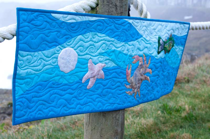Under the Sea Applique Quilt Border and Table Runner Pattern