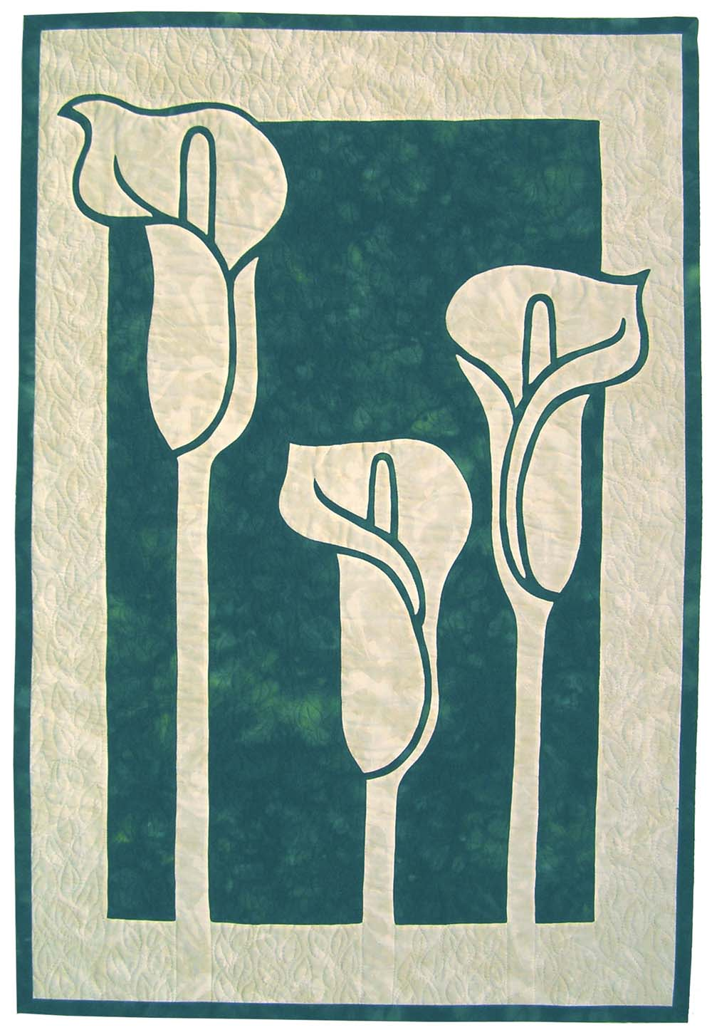 Calla Lilies 2 Fabric Applique Quilt Pattern