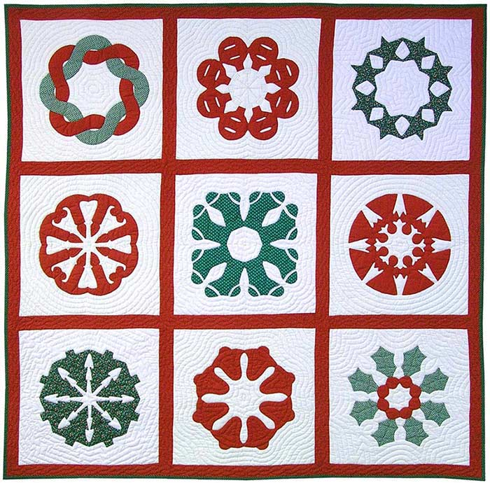 Christmas Hawaiian Block Quilt Patterns