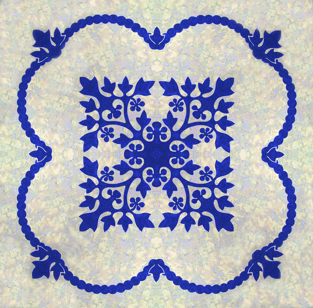 Lei Kukui Hawaiian Bed Quilt Pattern