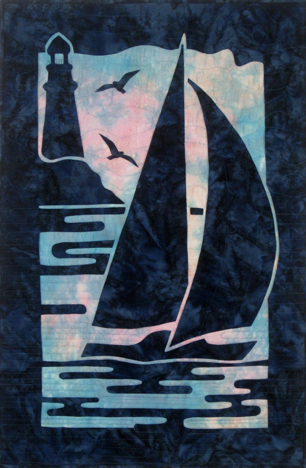Sailboat w seagulls, Melinda Sword