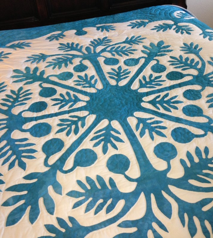 Na Ulu Hawaiian Bed Quilt Pattern
