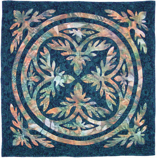 Woodland Lei Hawaiian Wall Quilt Pattern